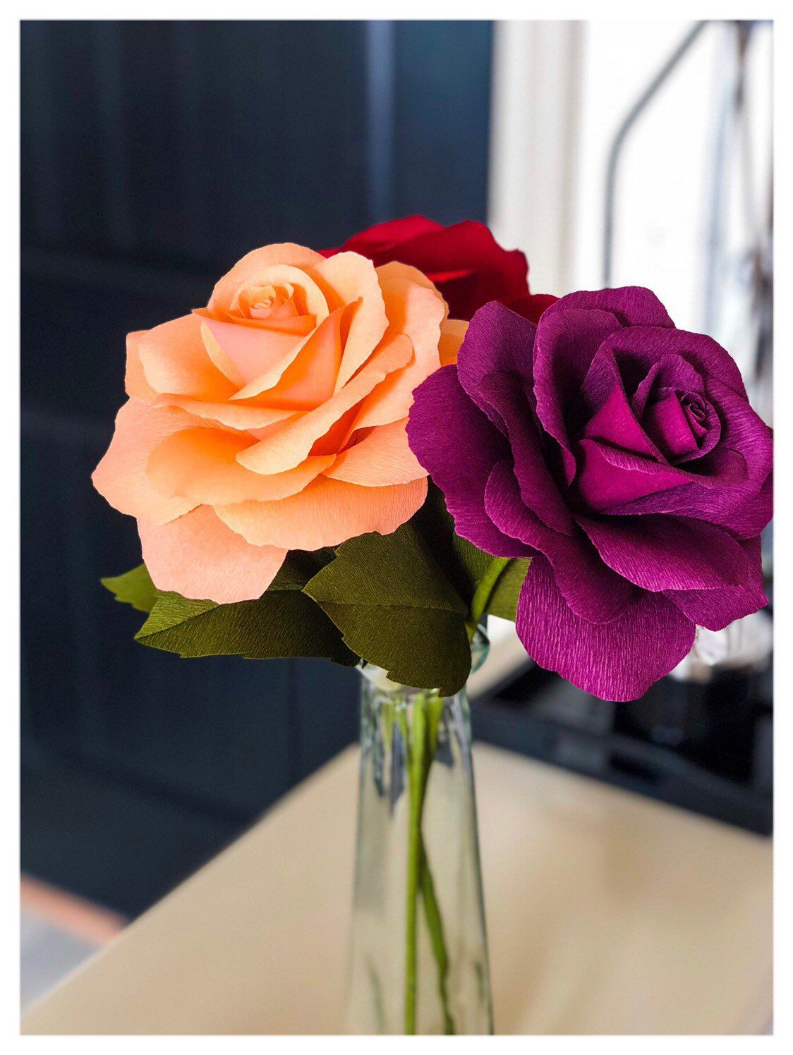 Paper Flower Roses Papers To Petals Flowers Paper Flower