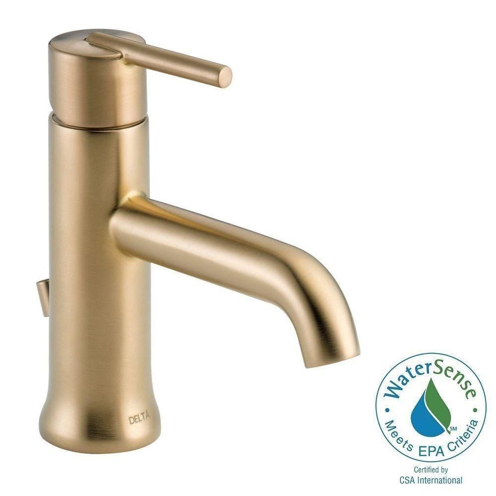Delta Trinsic Single Handle Champagne Bronze Bathroom Faucet | Overstock.com  Shopping   The