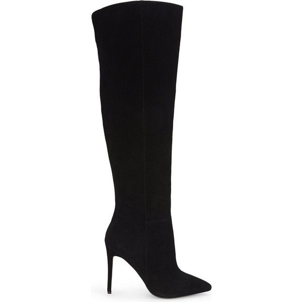 34103cff7d3 Aldo Mirinia suede over the knee boots ( 59) ❤ liked on Polyvore featuring  shoes