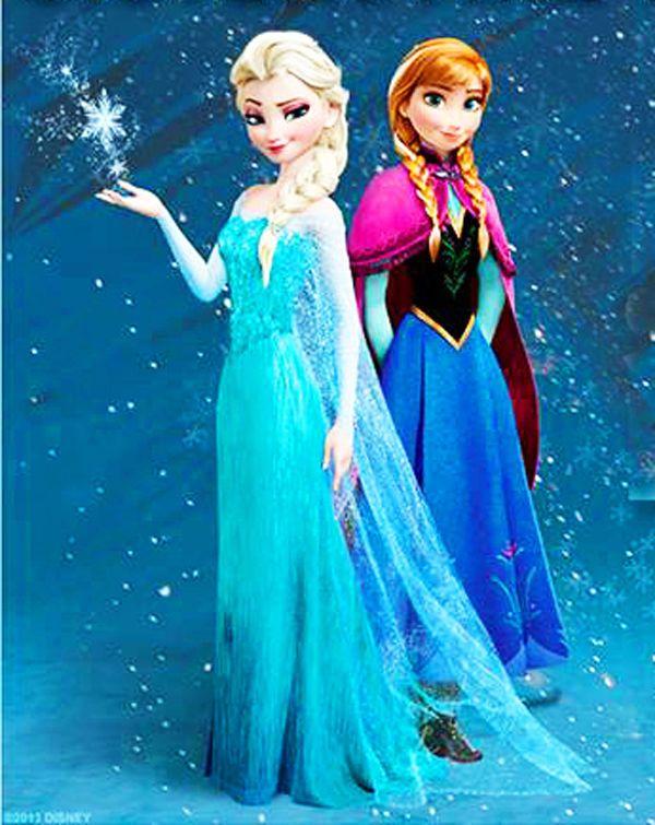 Frozen - elsa and anna- cross stitch chart