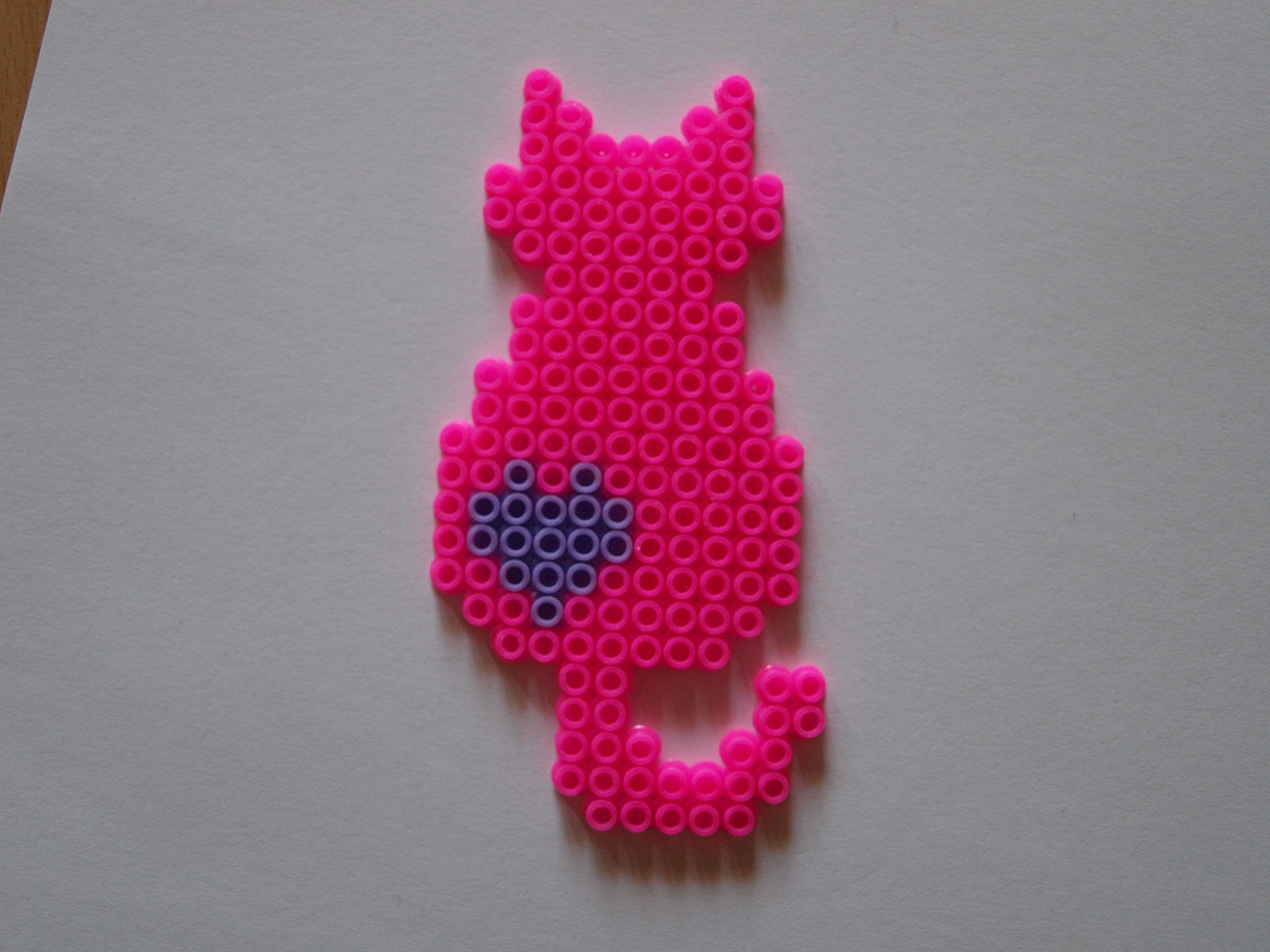 Bugelperlen Vorlage Katze Perler Beads Designs Perler Bead Art Hama Beads Design