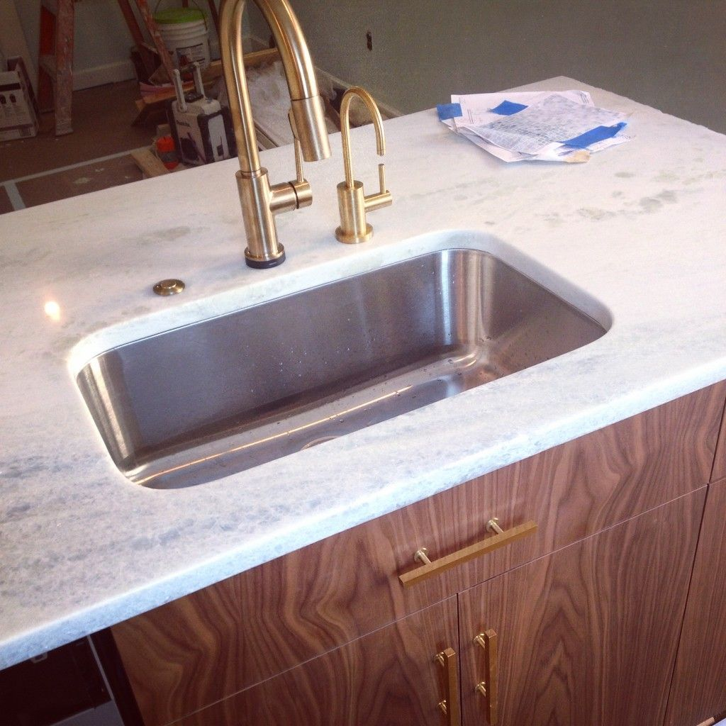 The Faucet Is Delta S Trinsic In Champagne Bronze We Chose It Because We Loved The Convenience