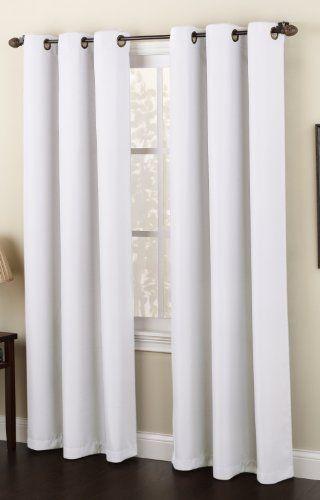 S Lichtenberg 48 By 84 Inch Montego Curtain Panel White By S Lichtenberg On Amazon Simple But Pretty Grommet Curtains White Paneling White Curtains