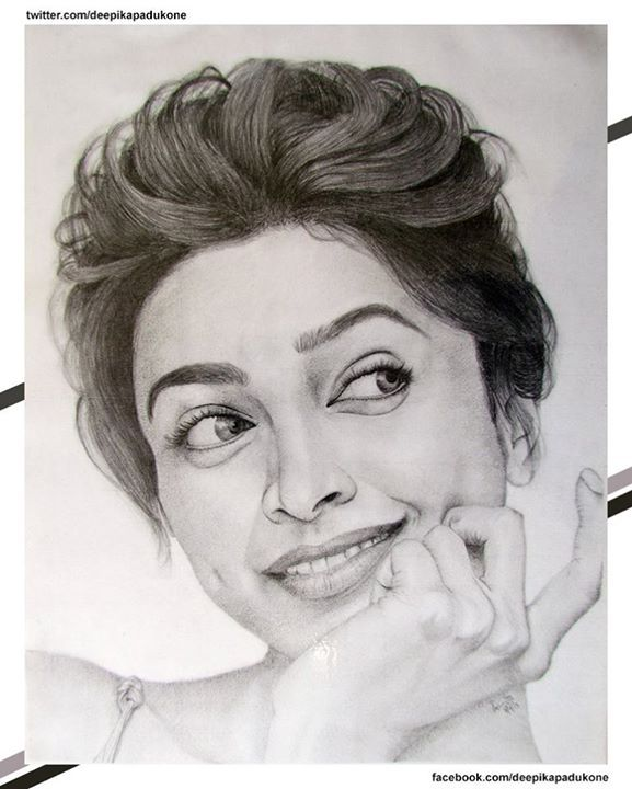 An unbelievably perfect sketch of deepika padukone by a fan what do you think of it thank you pranita pendse