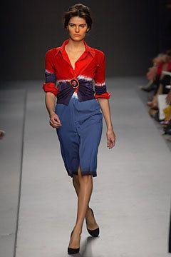 Prada Spring 2004 Ready-to-Wear Fashion Show - Daria Werbowy, Miuccia Prada
