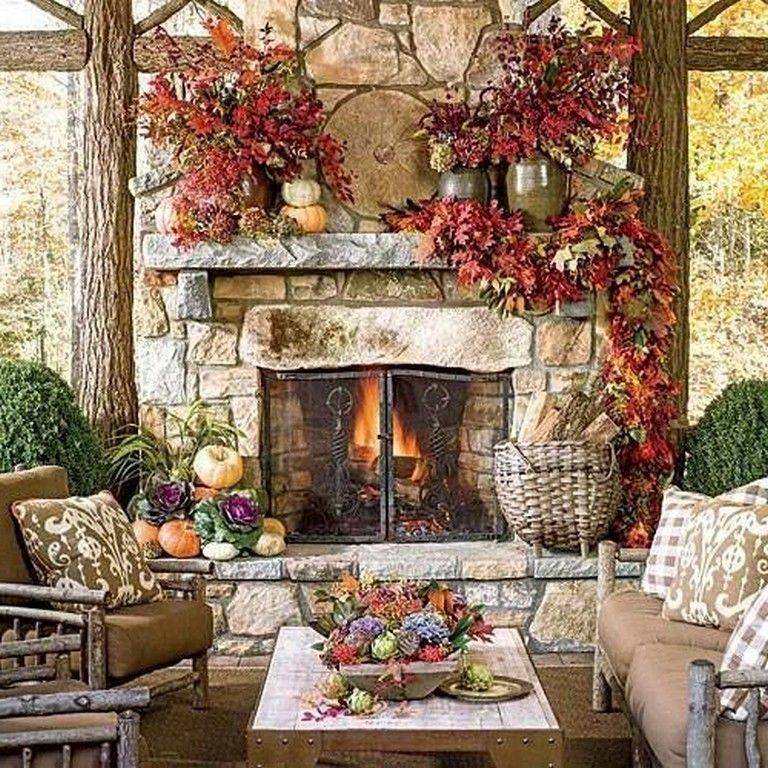 28 Stunning Fall Patio Decor Ideas On A Budget Fall Fireplace