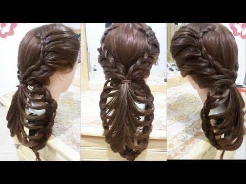 peinados faciles rapidos y bonitos con trenzas de moda para niña en cabello largo y mediano 2016 - YouTube