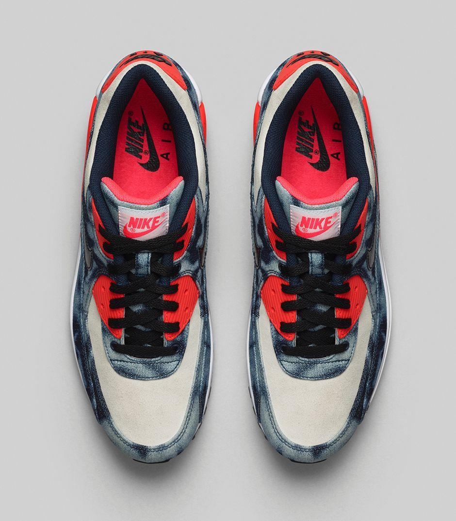 e62ad47ed2 inexpensive atmos x nike sportswear air max 90 qs bleached denim 69f57 06615