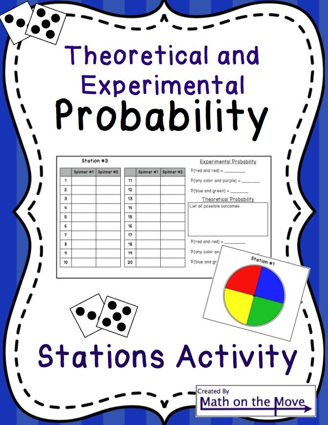 Probability Theoretical and Experimental Stations Activity – Probability Review Worksheet