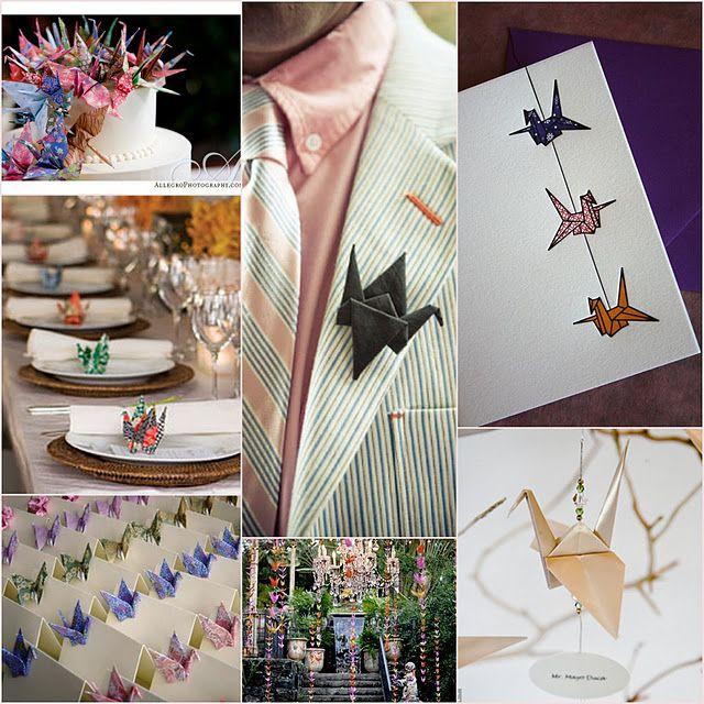 Paper crane wedding theme, yep I love it!