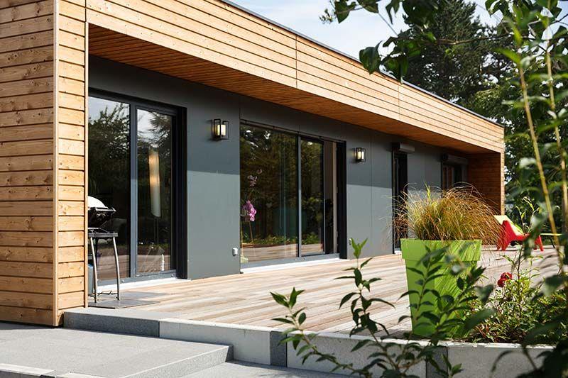 Maison moderne ossature bois sign e par le constructeur maison booa maison moderne en 2019 for Constructeur maison bois alsace