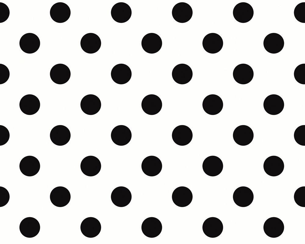 schwarze punkte auf wei em hintergrund aus der sch ner wohnen 3 kollektion tapete 225214 black. Black Bedroom Furniture Sets. Home Design Ideas