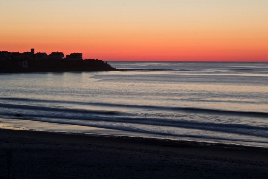 Boar's Head Sunrise as seen from the balcony of the Hampton House Hotel at Hampton Beach in New Hampshire
