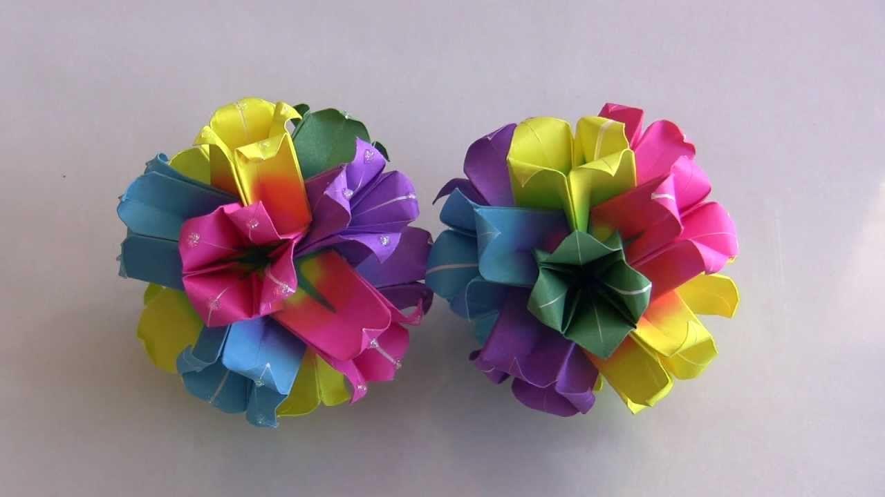 Kusudama De Flores Origami Pinterest Origami Origami Flowers
