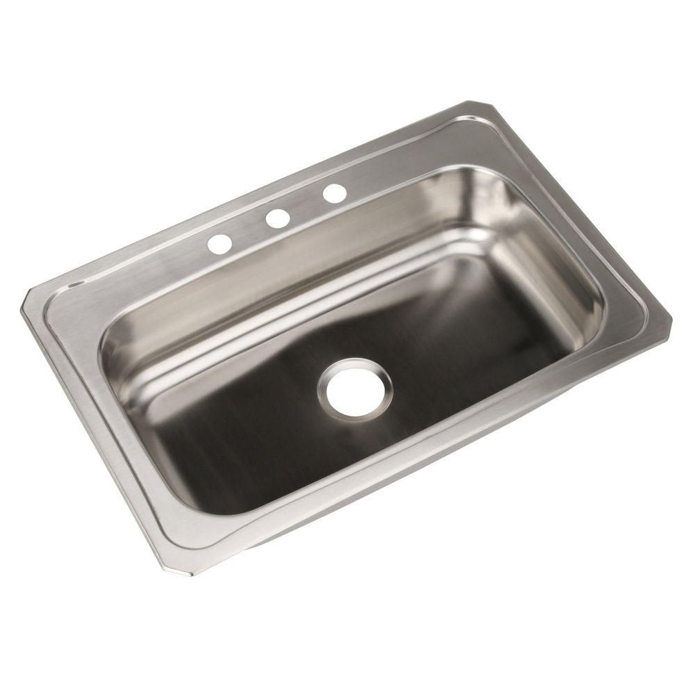elkay celebrity drop in stainless steel 33 in 3 hole single bowl rh pinterest co uk