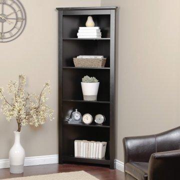 Redford Black Corner Bookcase