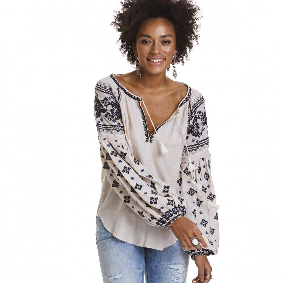 folktale blouse LIGHT PORCELAIN