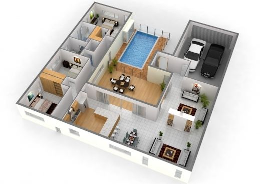 Outstanding Ordinary 4 Bedroom 2 5 Bath House Plans 6 3d Floor Story 2500 Sq 5 Bedroom 3d House Plans Pho House Floor Plans 3d House Plans Interior Design Plan