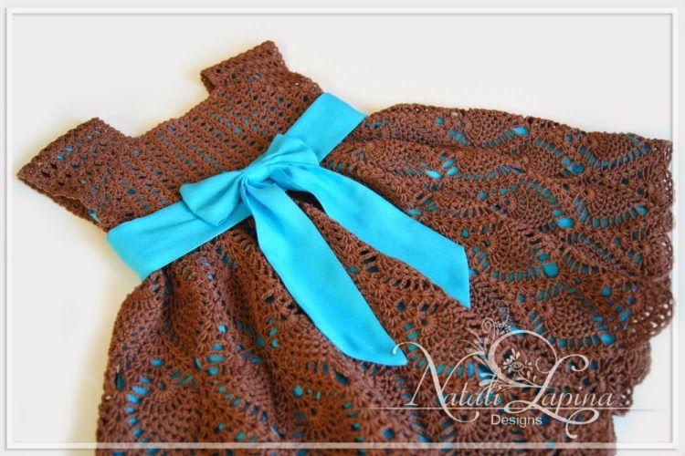 Patrones de vestido de niña al crochet | tejidos cool | Pinterest ...