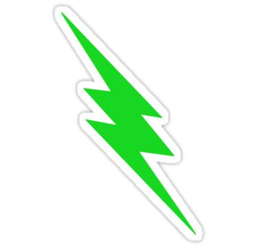 Green Lightning Bolt Stickers By Spacealientees Redbubble Lightning Bolt Lightning Bolt