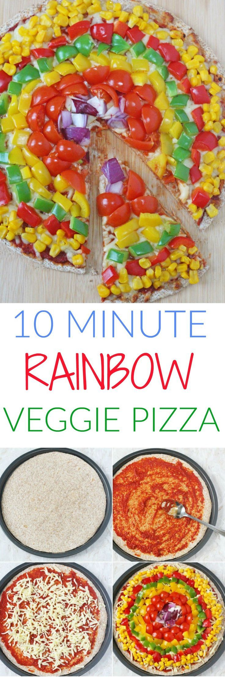 Rainbow Veggie Pizza for Kids - My Fussy Eater | Easy Kids Recipes