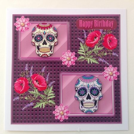 Sugar Skull Part 13 Card Front by Jenny Archer