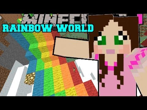 Christmas Minecraft World.Minecraft World Of Rainbows Christmas Trolling Custom
