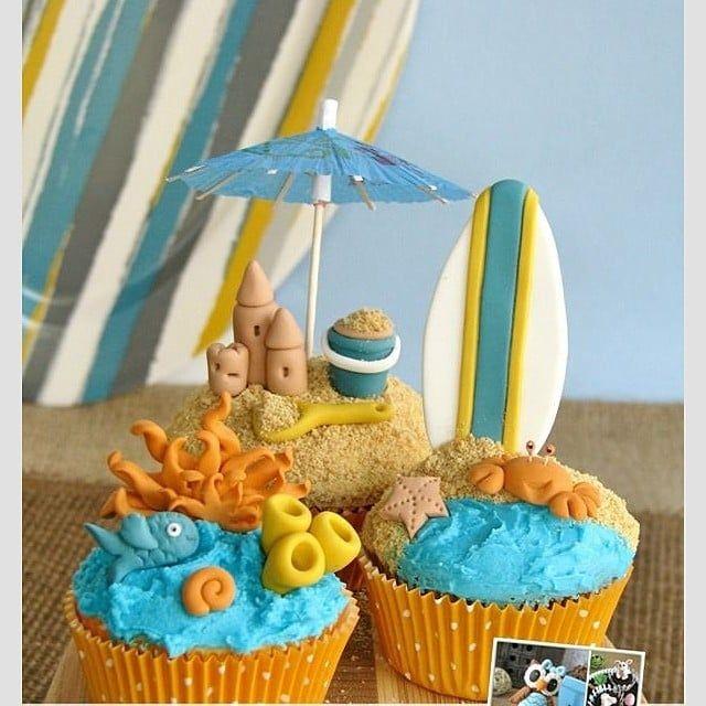 Sand Castle Cupcakes Beach Cupcakes Beach Theme Cupcakes