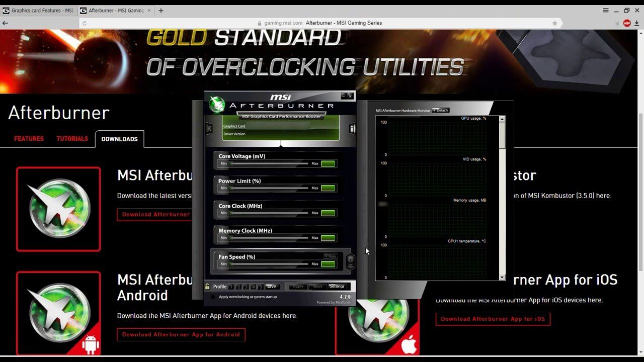 How to download and install MSI Afterburner App