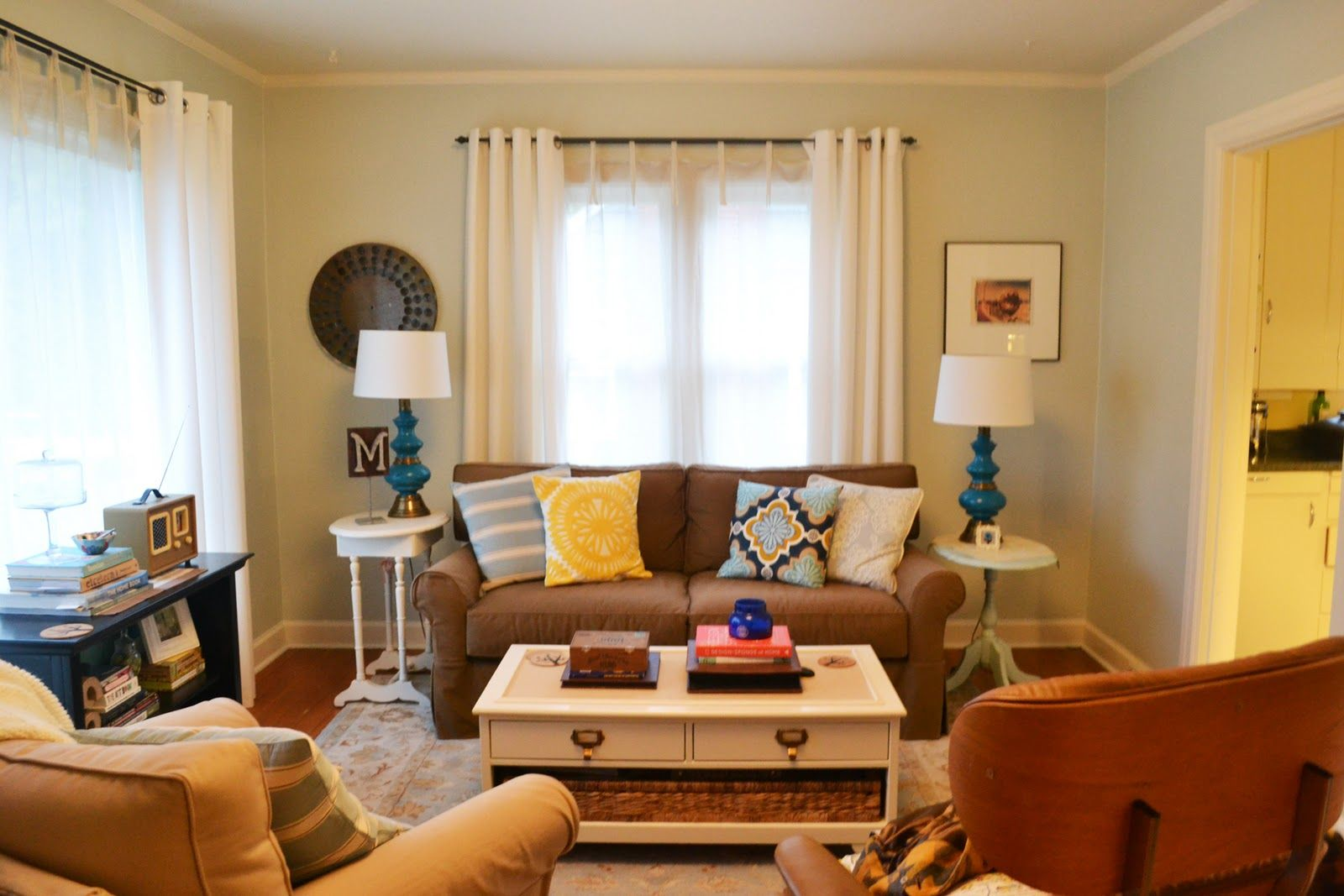 Living Room Brown Blue Yellow Google Search Brown And Blue Living Room Brown Living Room Living Room Color Inspiration