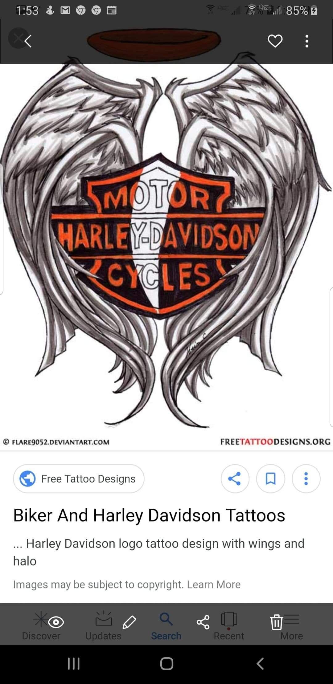 Pin By Reeta Shah On Sketches Free Tattoo Designs Harley Davidson Tattoos Harley Davidson Logo