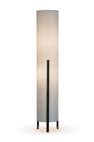 Nara 2 Light Black Chrome Cylinder Floor Lamp