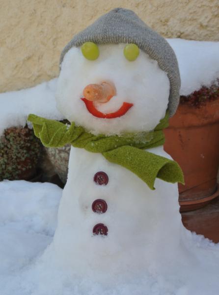 Ninot de neu.