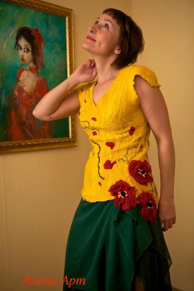Мастер класс по валянию платья на шелке