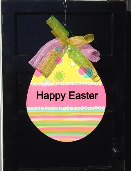 Easter door hanger,easter egg door hanger,easter door decor,easter wreath,wooden door hanger,popular easter door decor,ready to ship by Furnitureflipalabama on Etsy https://www.etsy.com/listing/177929352/easter-door-hangereaster-egg-door