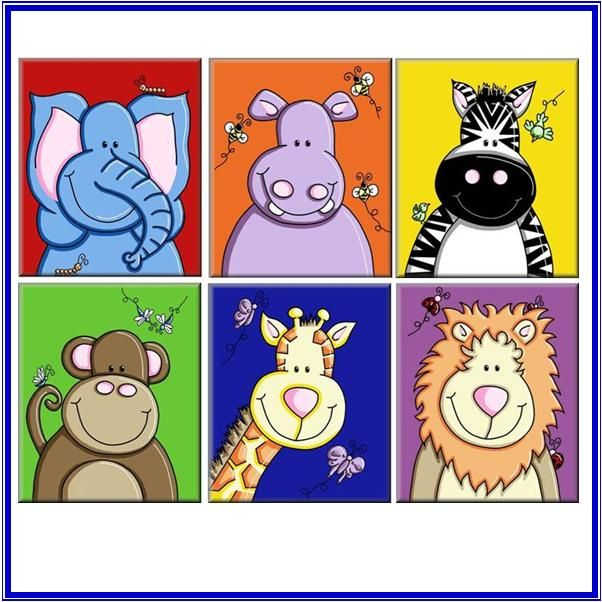 canvas prints for baby room. Jungle Animals Zoo Canvas Prints BABY Nursery 30x40cm For Baby Room O