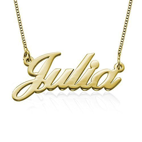 18k gold plated over silver personalized name necklace custom made 18k gold plated over silver personalized name necklace custom made with any name http aloadofball Images