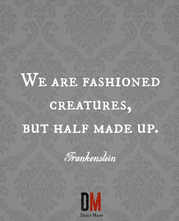 Quotes From Frankenstein Amusing 12 Famous Quotes From Frankenstein  Famous Quotes And Frankenstein