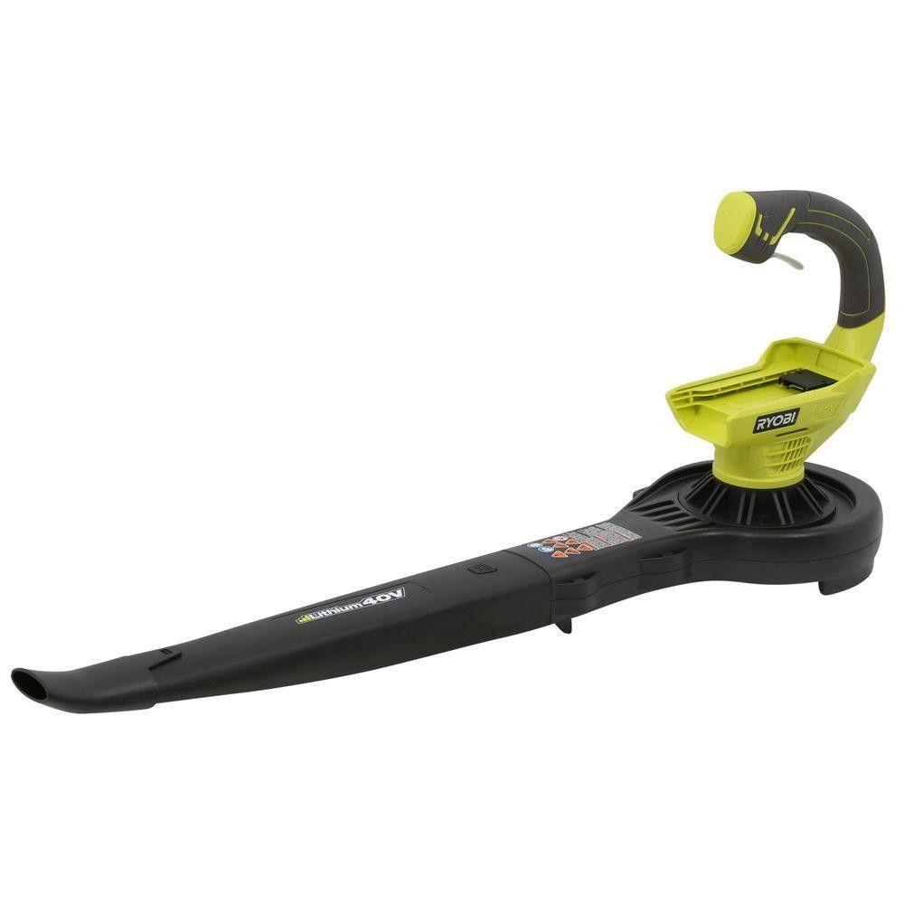 ryobi ry40401 150 mph 150 cfm 40volt cordless leaf battery - Cordless Leaf Blower