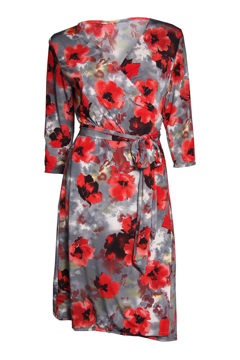 ee800e9ec6da The Iconic Wrapped Dress - Monet Red Flower - Kristine's Collection ...