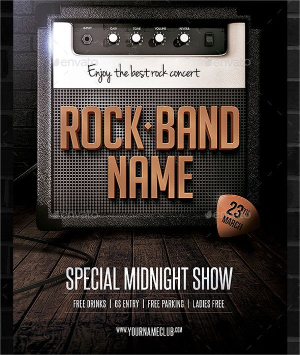 Rock Band Flyer  Flayers    Flyer Template And Template