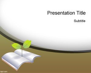 Green Education Powerpoint Template Green Education Powerpoint