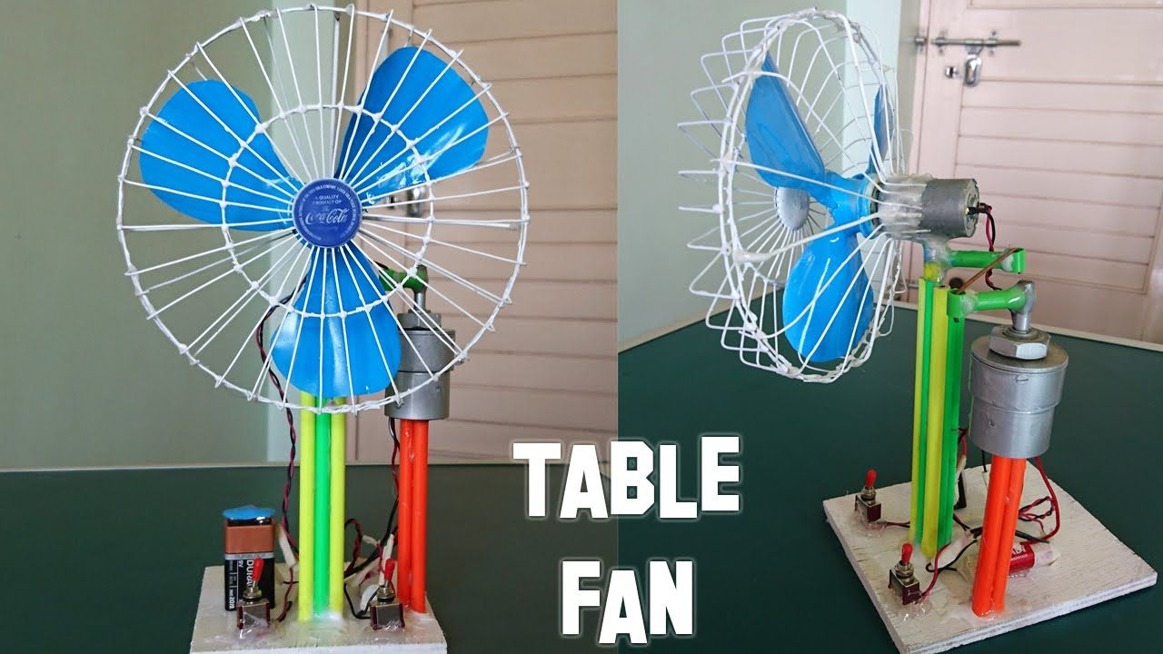 How to make a revolving table fan best out of waste for Waste out of best project