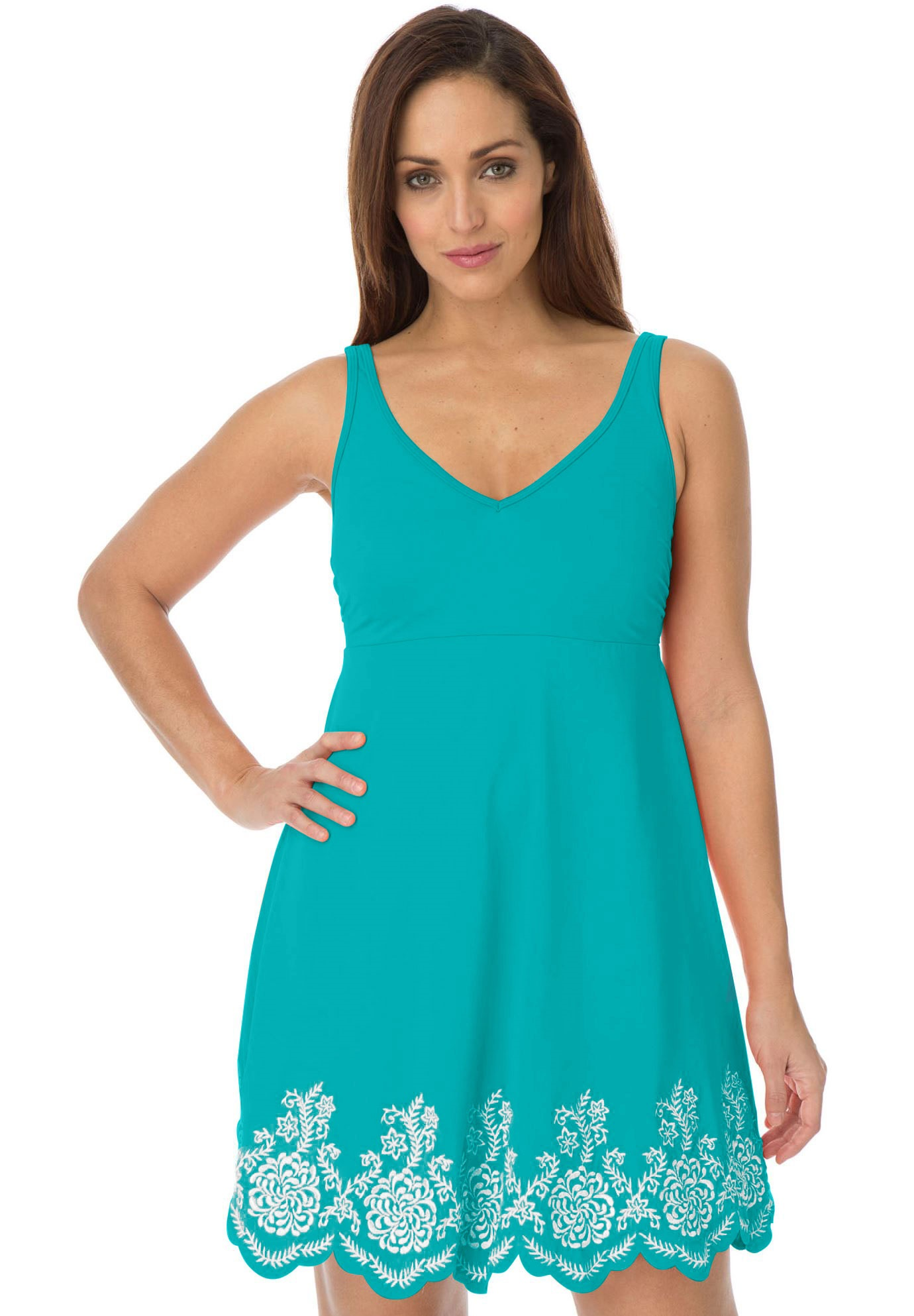 332105a020ee4 Empire Swim Dress - Women's Plus Size Clothing | Products | Swim ...