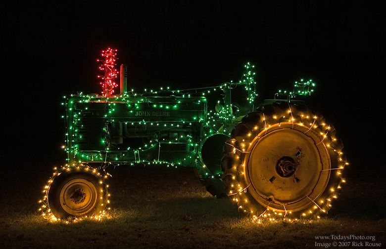 John Deere with Christmas Lights. For years we decorate our John ...