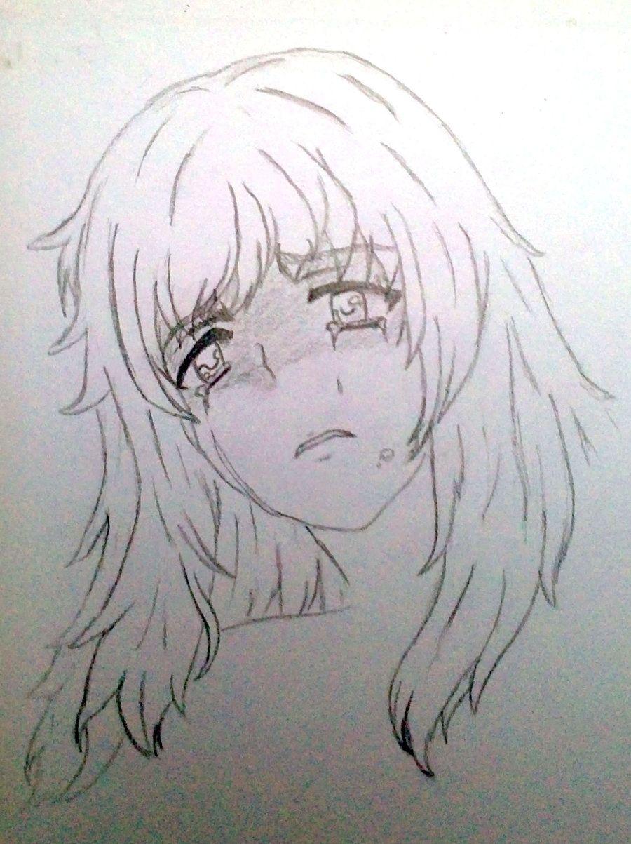 Cry Manga Girl By Yashamarupl On Deviantart How To Draw