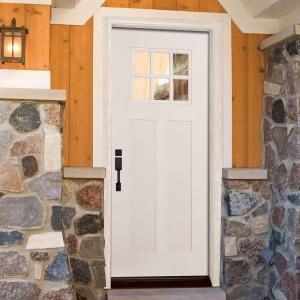 Feather River Doors 37 5 In X 81 625 In 6 Lite Clear Craftsman Unfinished Smooth Fiberglass Prehung Front D Fiberglass Entry Doors Entry Doors Prehung Doors