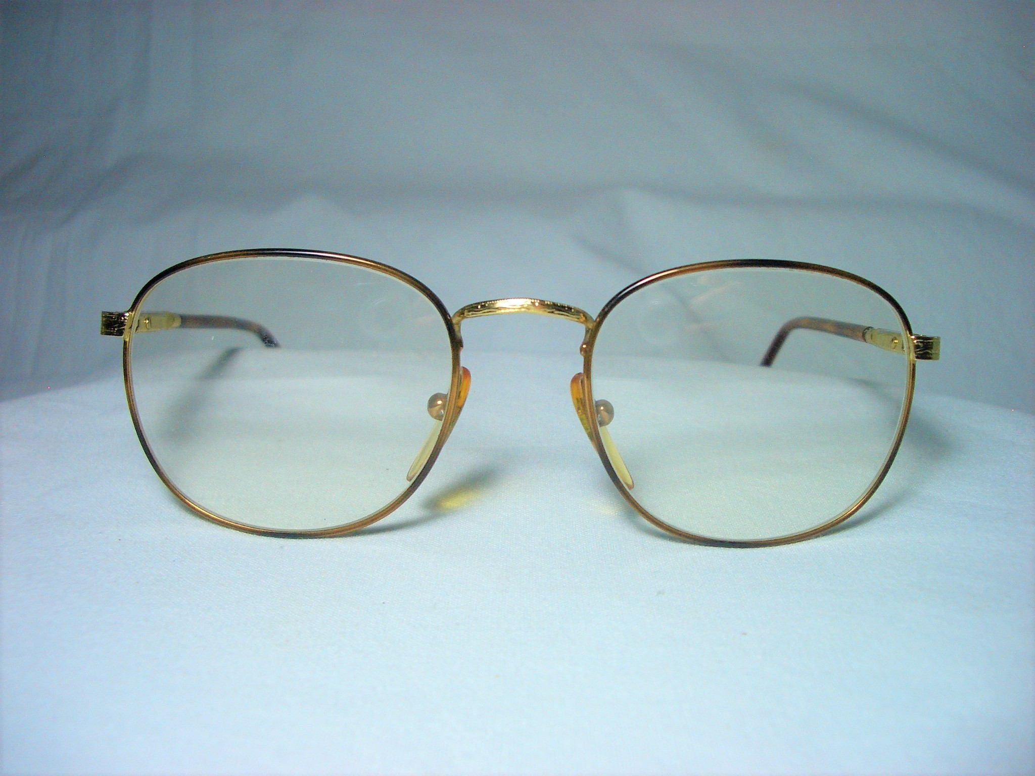 Sting Italy, 22 kt gold plated, round, oval eyeglasses, frames ...