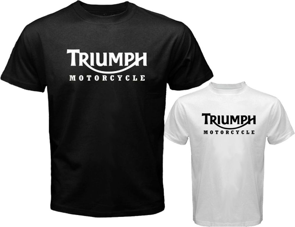 2ab24ddc4c6b New TRIUMPH MOTORCYCLE Classic Logo Racing Men's White Black T-Shirt Size  S-3XL #FruitofTheLoomorHanes #BasicTee