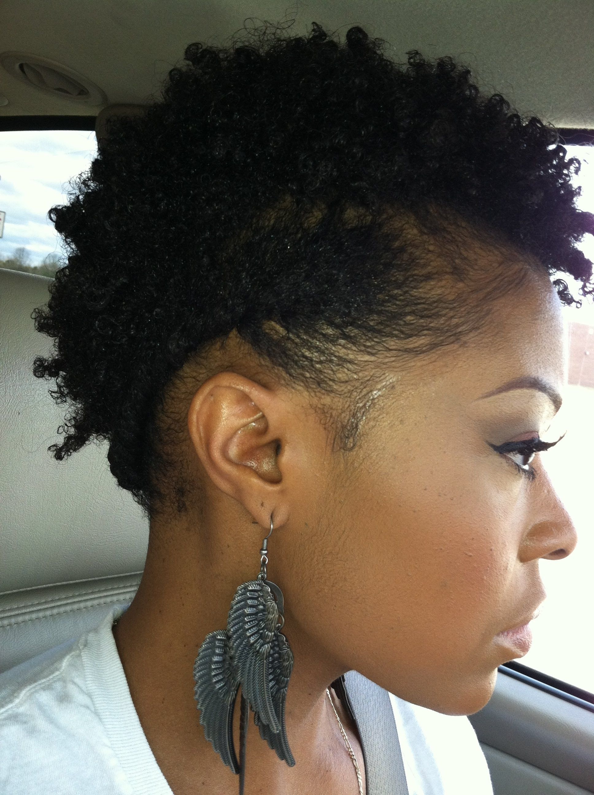 How To Style Short Natural Hair Ideas Hair Pinterest Short